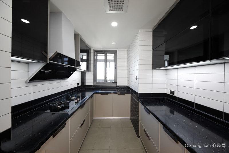 现代风格黑色精致厨房装修效果图赏析