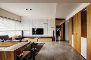 114平米现代简约精装三室两厅室内装修效果图案例