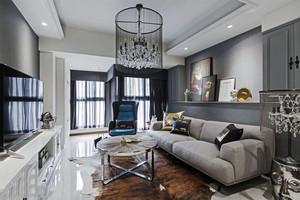 新古典主义风格低调典雅客厅设计装修效果图