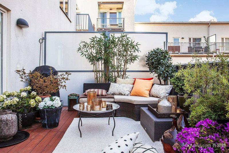 现代风格时尚阳台花园设计装修效果图