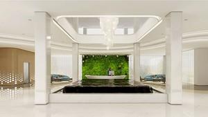 现代简约风格华丽酒店大堂设计装修效果图