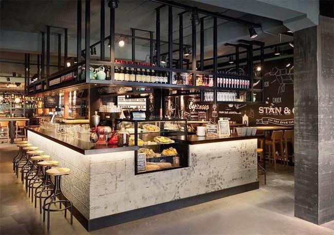 现代风格精致酒吧吧台设计装修效果图