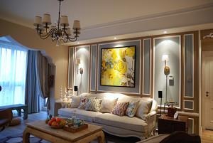 80平米复古风格时尚室内设计装修效果图
