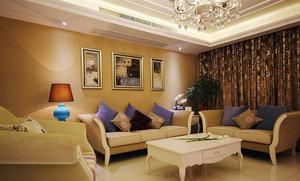 124平米简欧风格精装三室两厅室内装修效果图