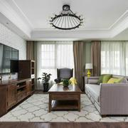简欧风格淡雅温馨客厅设计装修效果图