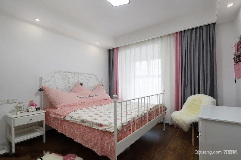 美式风格粉色甜美儿童房设计装修效果图