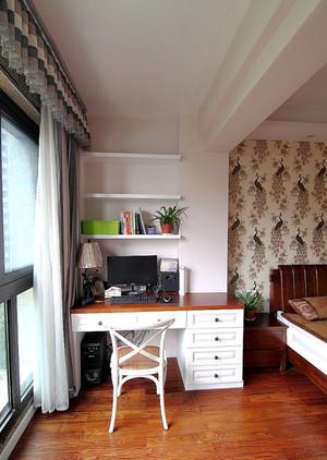 美式风格清新自然两室两厅室内装修效果图案例