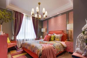 美式风格大户型温馨暖色卧室装修效果图