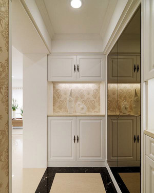 100平米欧式风格淡雅精致室内装修效果图