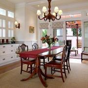 欧式风格别墅室内精致餐厅设计装修效果图