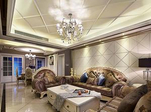 152平米欧式风格奢华大户型室内装修效果图案例