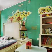 20平米欧式风格活力绿儿童房装修效果图