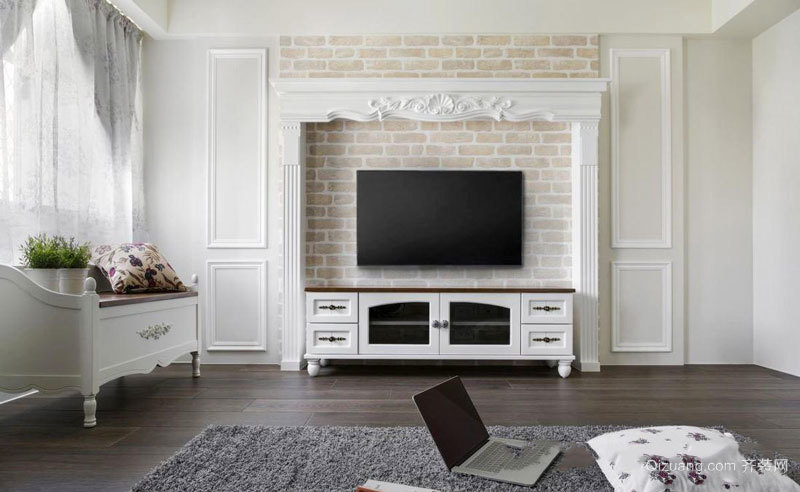 欧式风格大户型精美客厅电视背景墙装修效果图