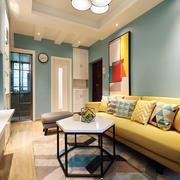 清新风格时尚客厅设计装修效果图
