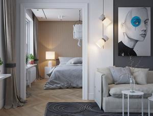 现代风格精美木质卧室背景墙装修效果图赏析
