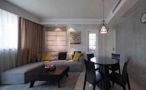 现代简约风格两室两厅一卫装修效果图案例