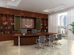 中式风格老总办公室装修效果图赏析