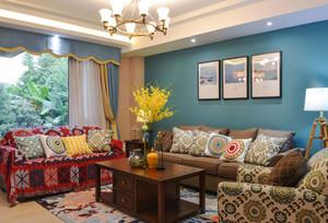 混搭风格时尚客厅沙发装修效果图