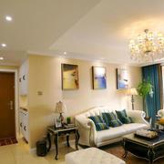 简欧风格精美小户型客厅设计装修效果图
