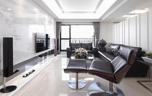混搭风格简约精致三室两厅室内装修效果图案例