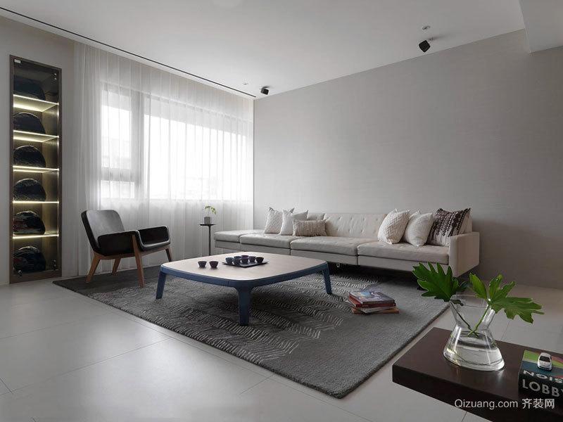 简约风格浅色温馨客厅设计装修效果图