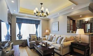 美式风格精致复古时尚两室两厅室内装修效果图