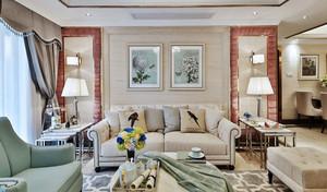 美式田园风格温馨客厅设计装修效果图赏析