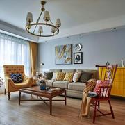 美式风格多彩时尚客厅设计装修效果图
