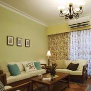 田园风格清新小户型客厅装修效果图赏析
