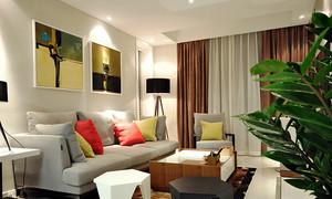 67平米现代风格精致一居室室内装修效果图赏析