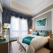 新中式风格大户型精致卧室装修效果图