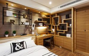 124平米新中式风格精致三室两厅装修效果图