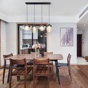 宜家风格简约木质餐厅设计装修效果图
