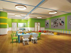 现代简约风格可爱幼儿园教室装修效果图