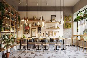 清新风格咖啡厅设计装修效果图赏析