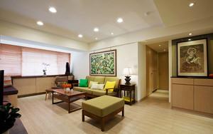 85平米东南亚风格简约两室两厅室内装修效果图