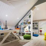 现代简约风格斜顶阁楼书房装修效果图赏析