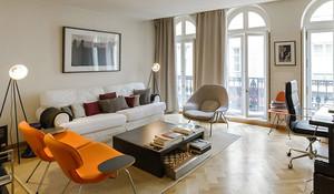 63平米简约风格优雅精致公寓装修效果图鉴赏