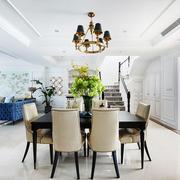 美式风格精致别墅室内餐厅设计装修效果图案例