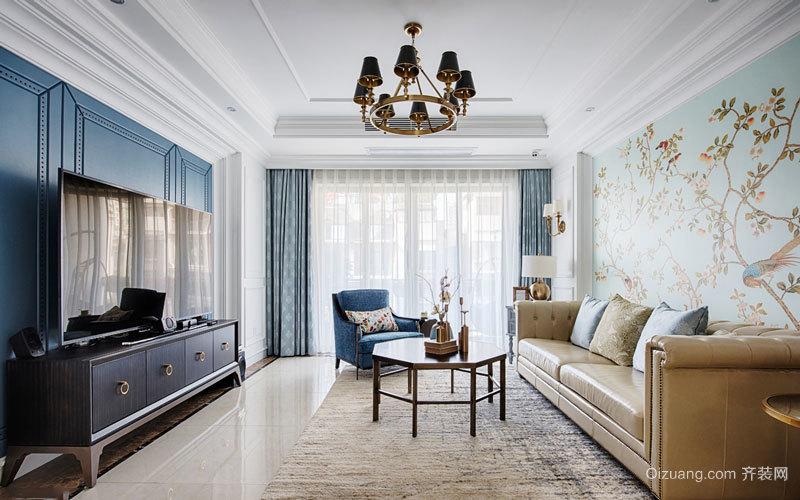 美式混搭风格时尚清新客厅装修效果图赏析