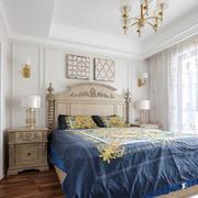 美式风格精美大户型卧室装修实景图