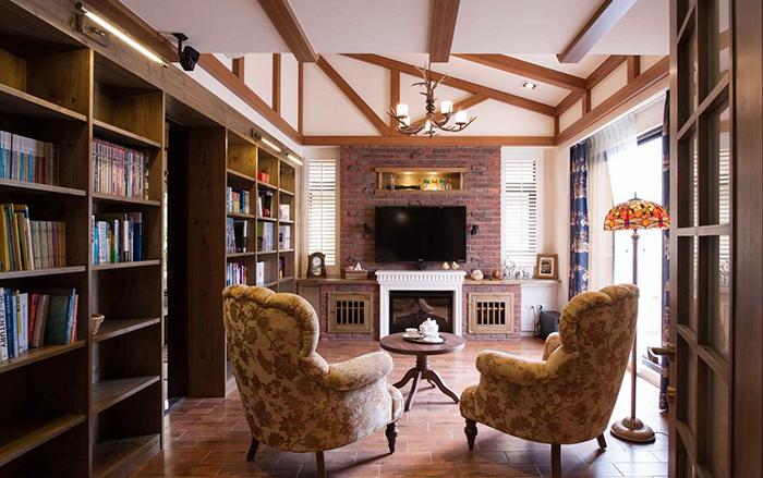 美式乡村风格精美别墅室内装修实景图赏析