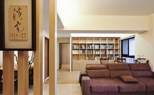 86平米日式风格简约三室两厅室内设计效果图