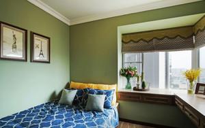 田园风格清新绿色卧室飘窗装修效果图赏析