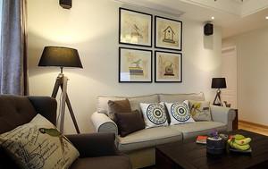 清新风格简约两室两厅室内装修效果图案例