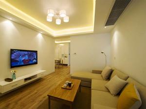 74平米宜家风格简约两室两厅装修实景图