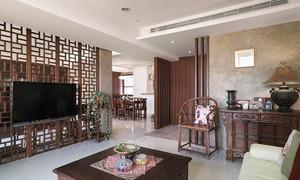 100平米中式风格古典精致室内装修效果图