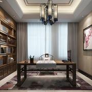 中式风格古典精致书房设计实景图赏析