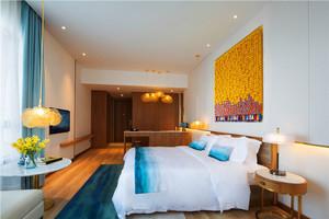现代简约风格酒店客房设计装修效果图