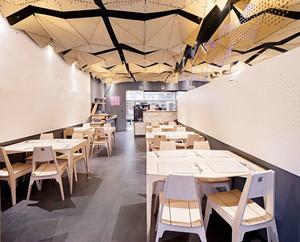 现代风格时尚创意餐厅吊顶设计装修图